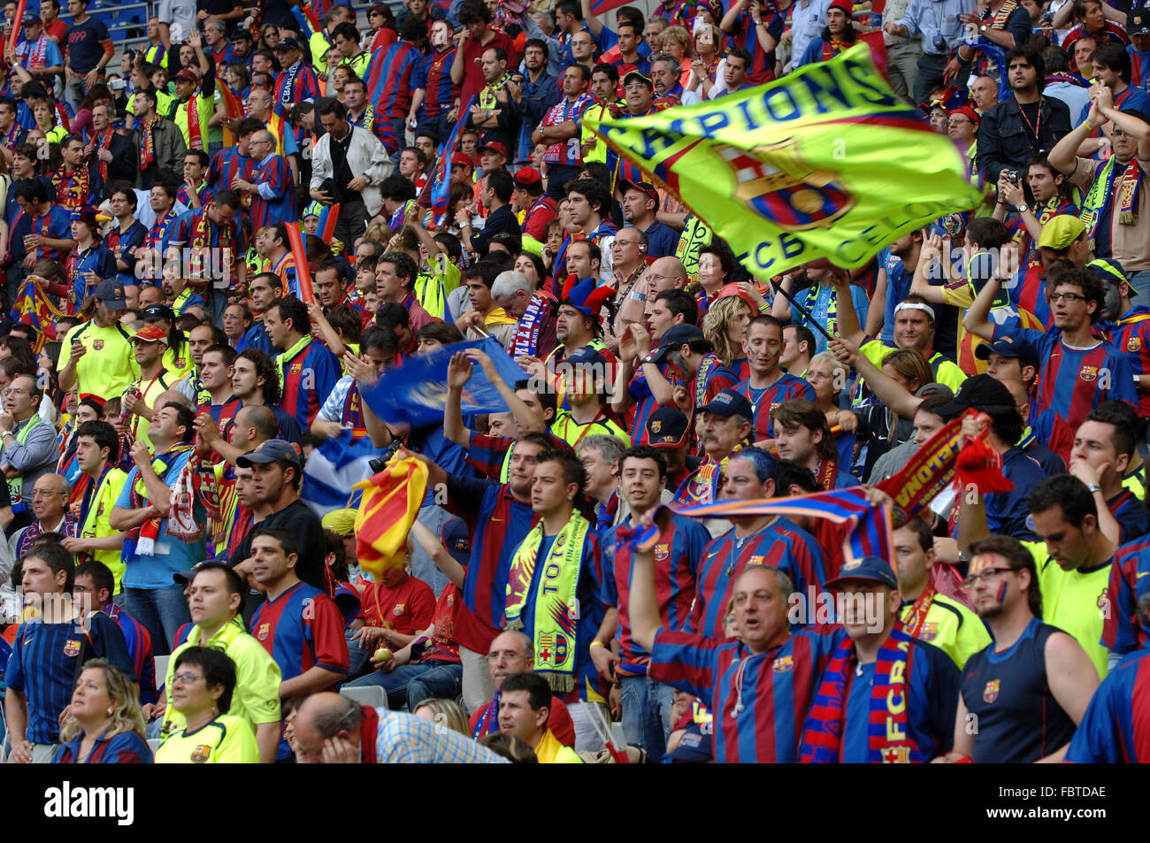 Football Fans - Stock Image