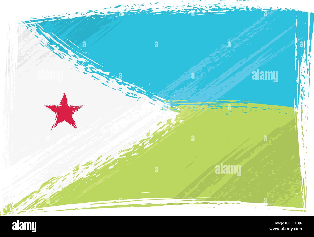 Grunge Djibouti flag Stock Photo