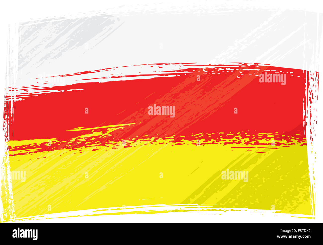 Grunge North and South Ossetia flag - Stock Image