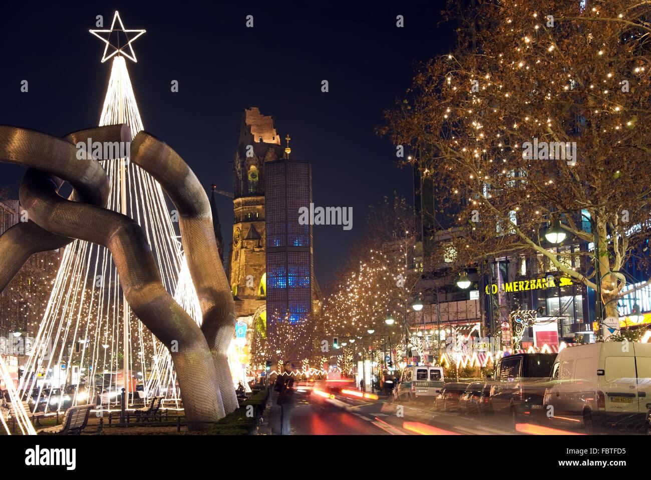 berlin christmastime - Stock Image