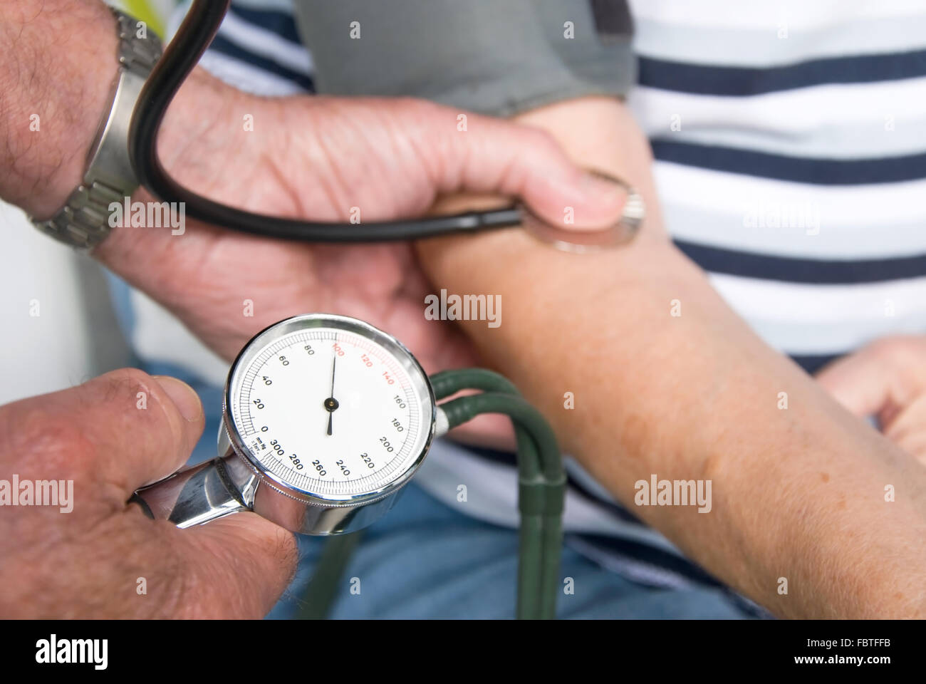 doctor and senior patient - Stock Image