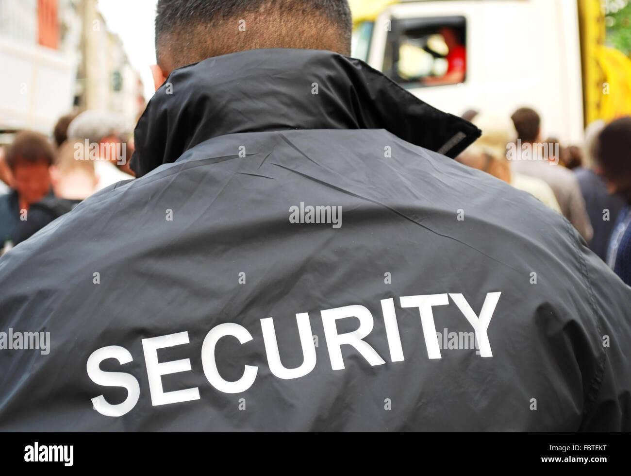security man - Stock Image