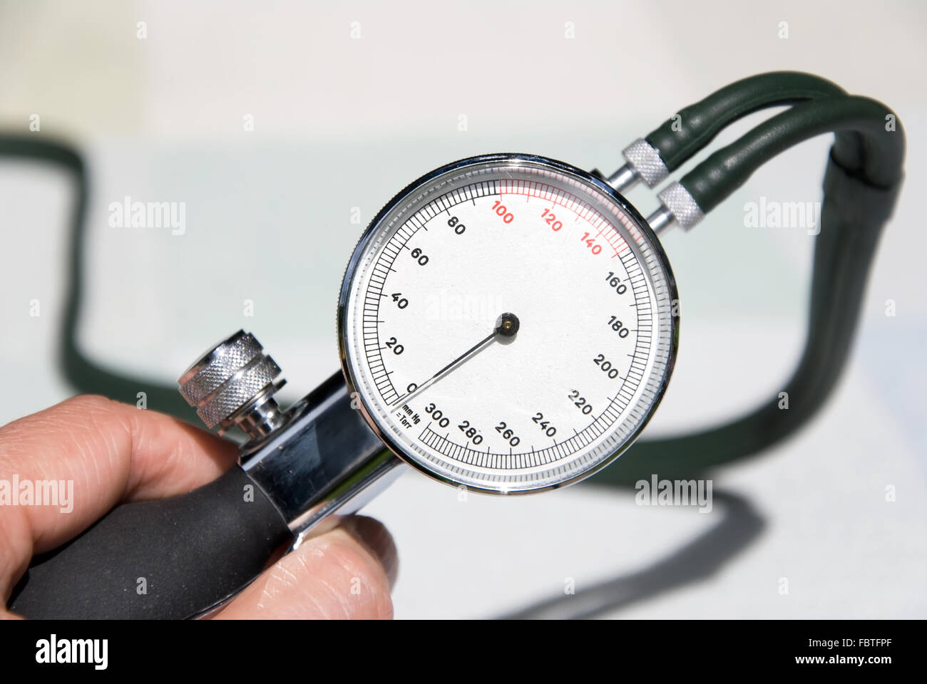 doctor blood pressure - Stock Image