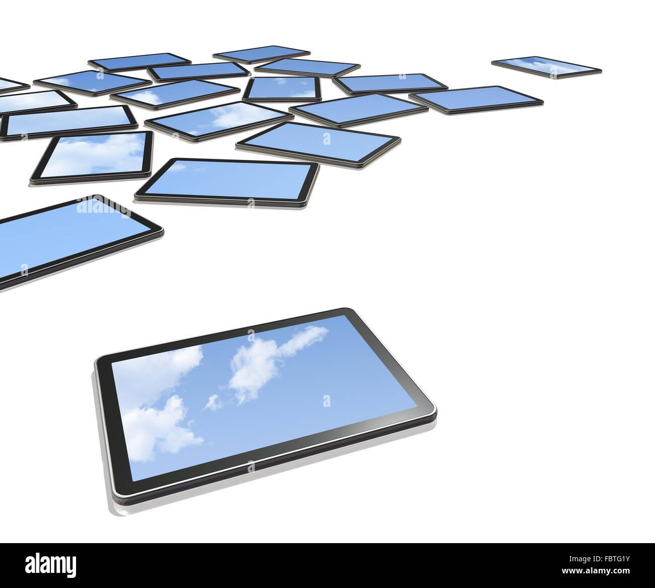 3D computers, TV screens - Stock Image