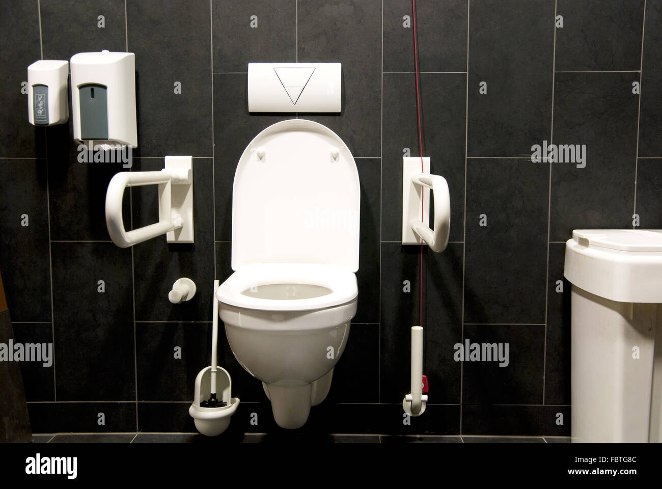 toilet disabled Stock Photo