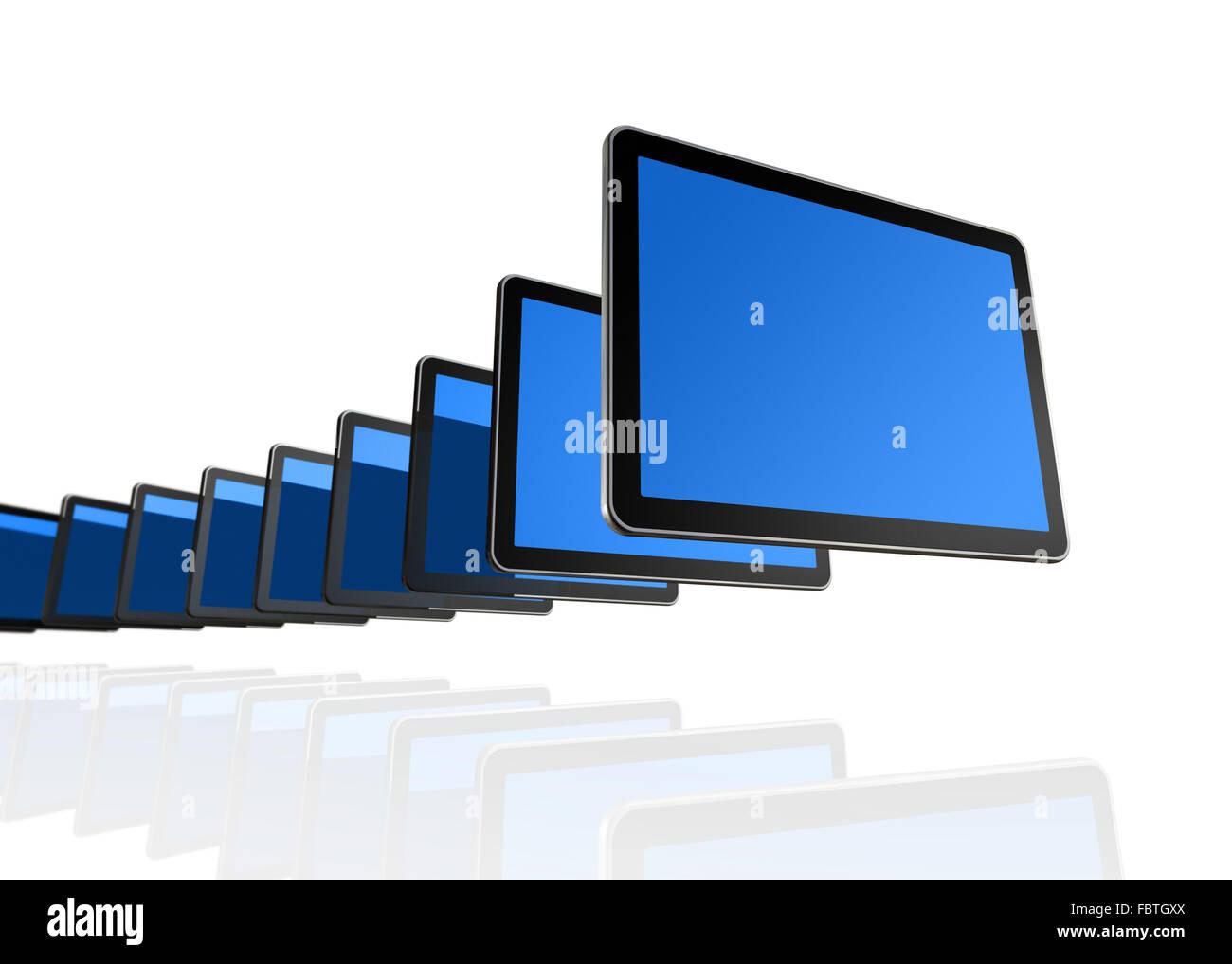 3D TV screens - Stock Image
