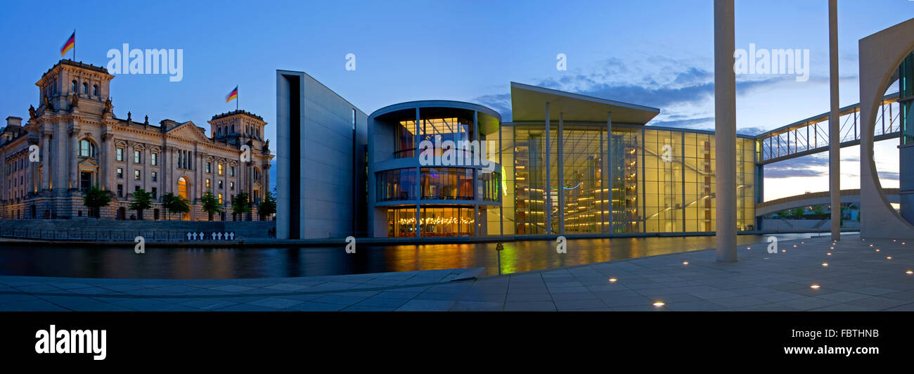 berlin reichstag panorama - Stock Image