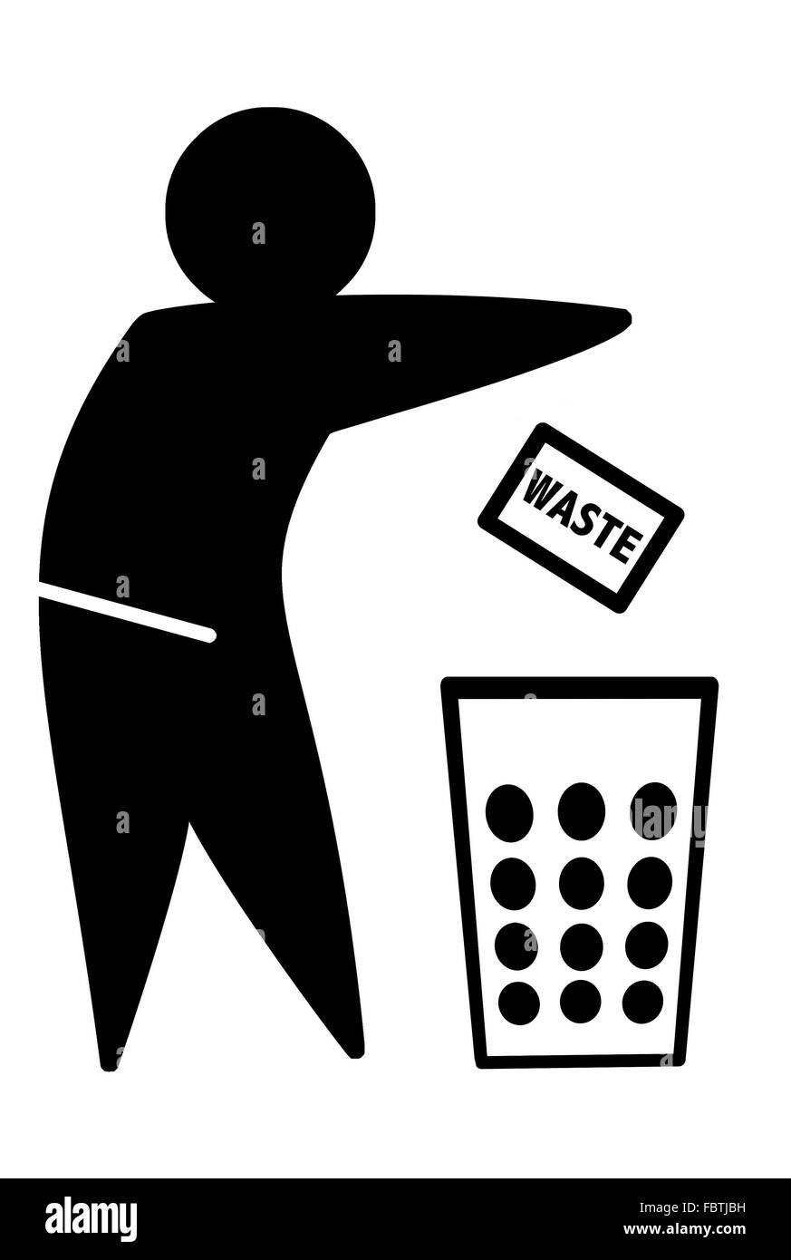 WASTE icon Stock Photo