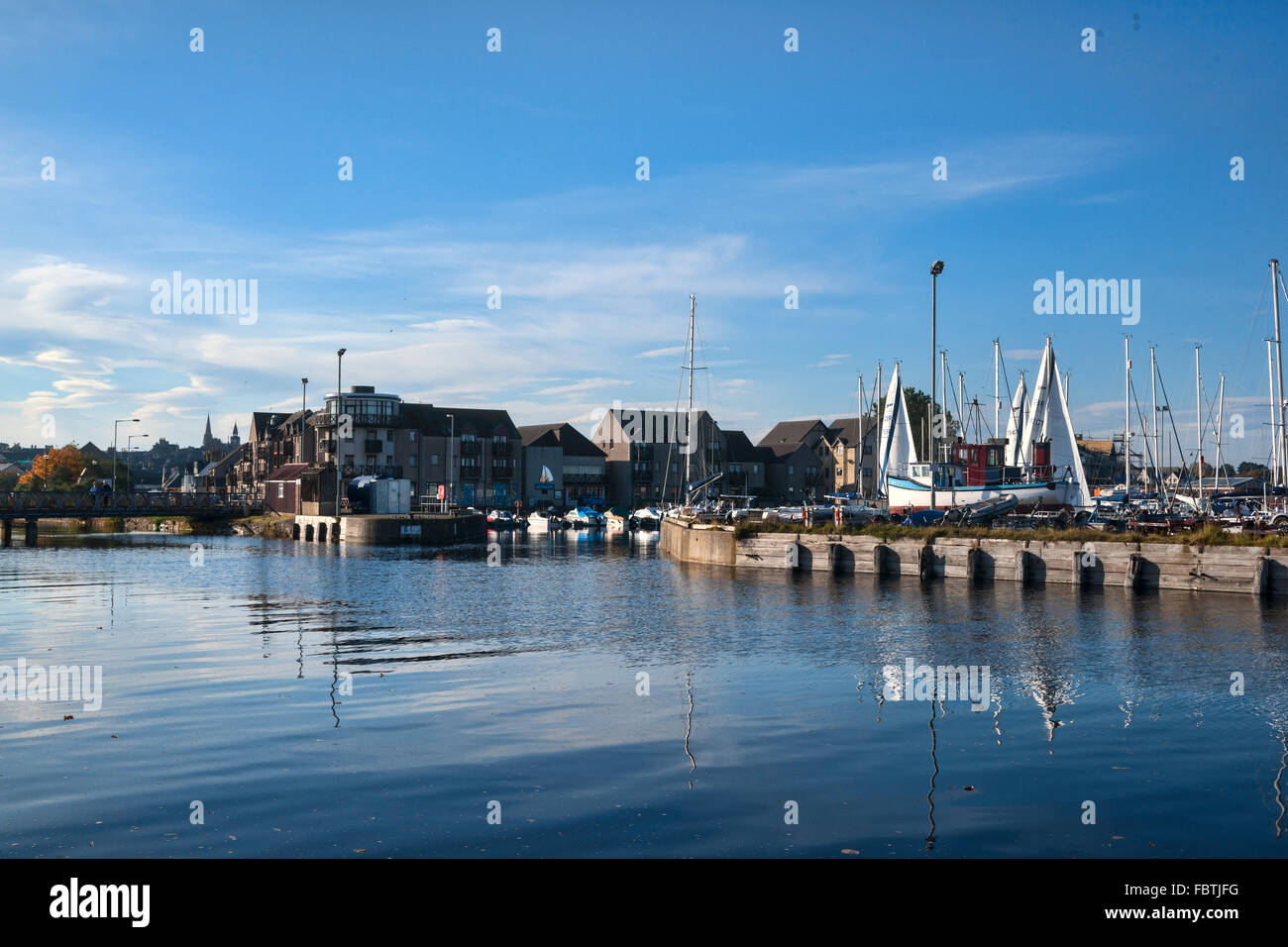Nairn Harbour, moray Firth, Highland Region, Scotland, UK - Stock Image
