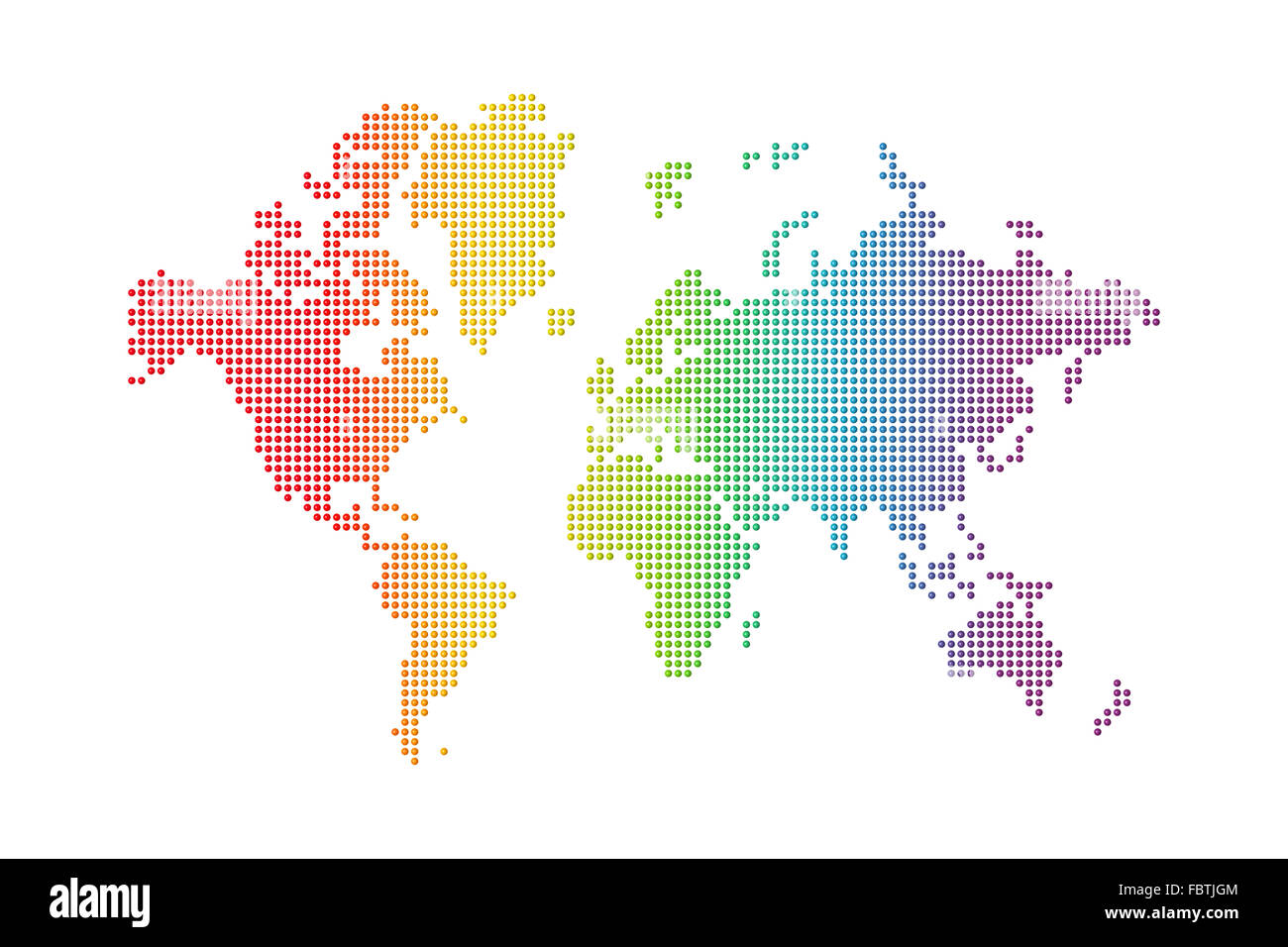 Rainbow World Map Stock Photo 93354484 Alamy