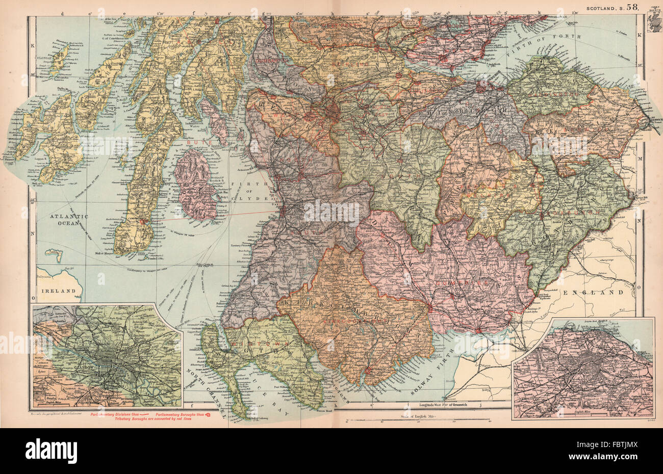 Art Prints Scotland South East Borders Central Edinburgh Glasgow Railways.weller 1862 Map Selling Well All Over The World Antiques