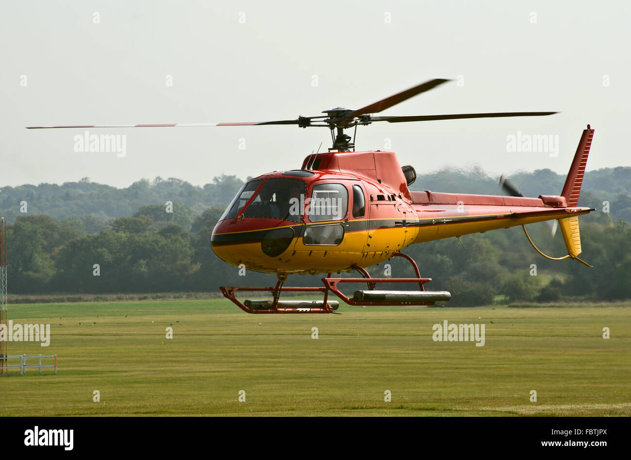 AS.350 helicopter - Stock Image