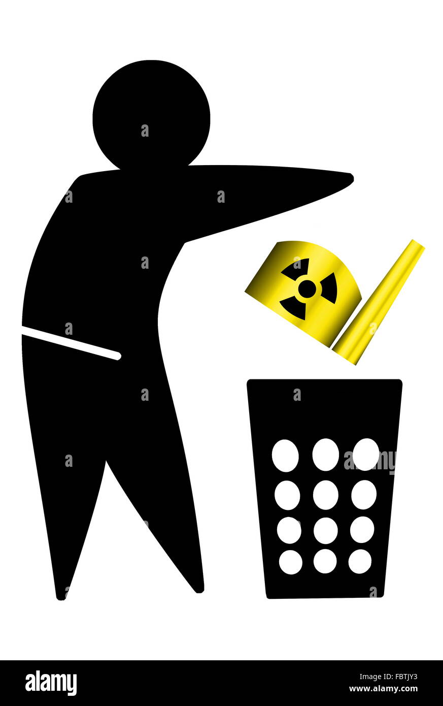 nuclear waste - Stock Image