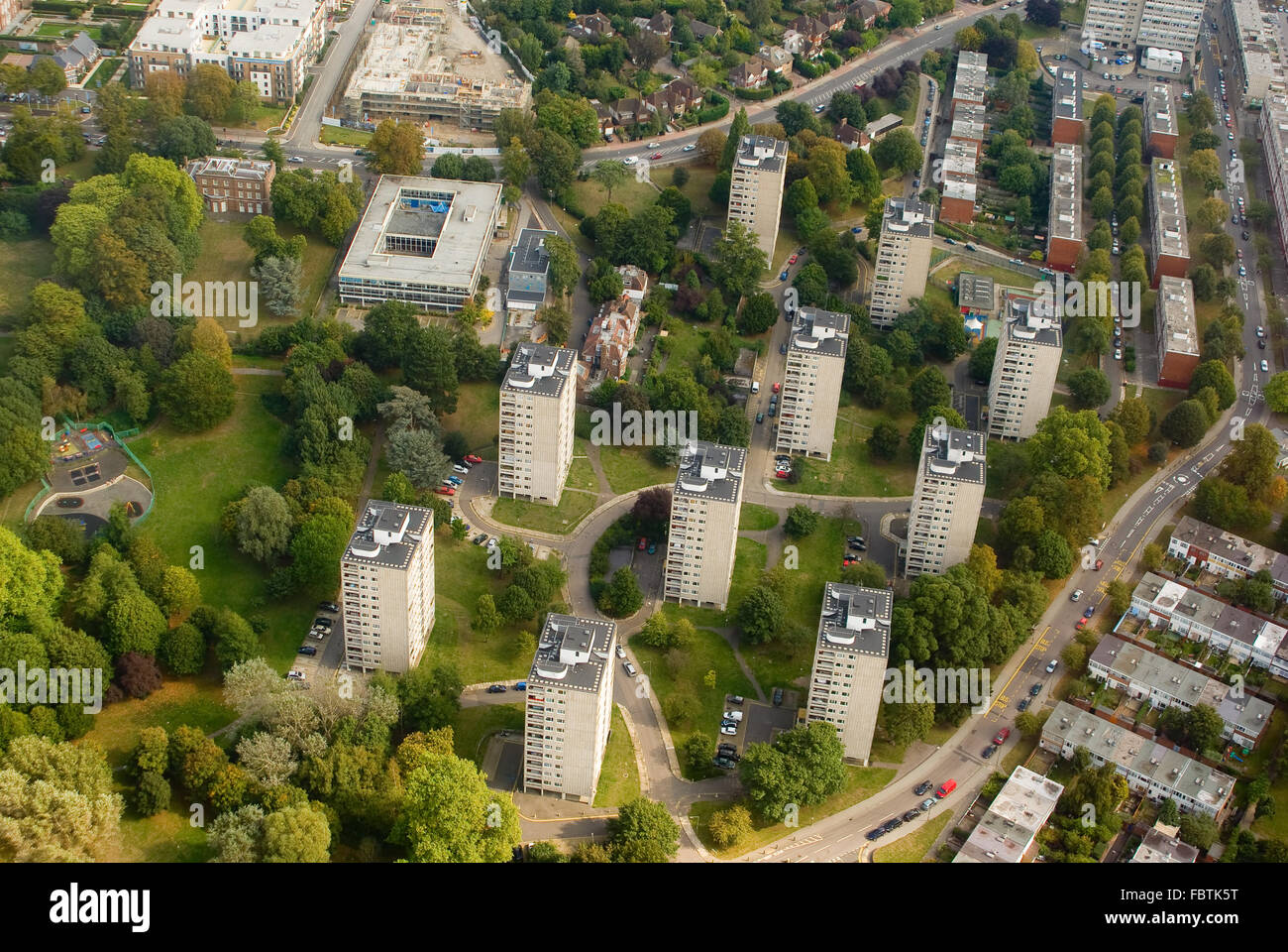 Multistory buildings near London - Stock Image