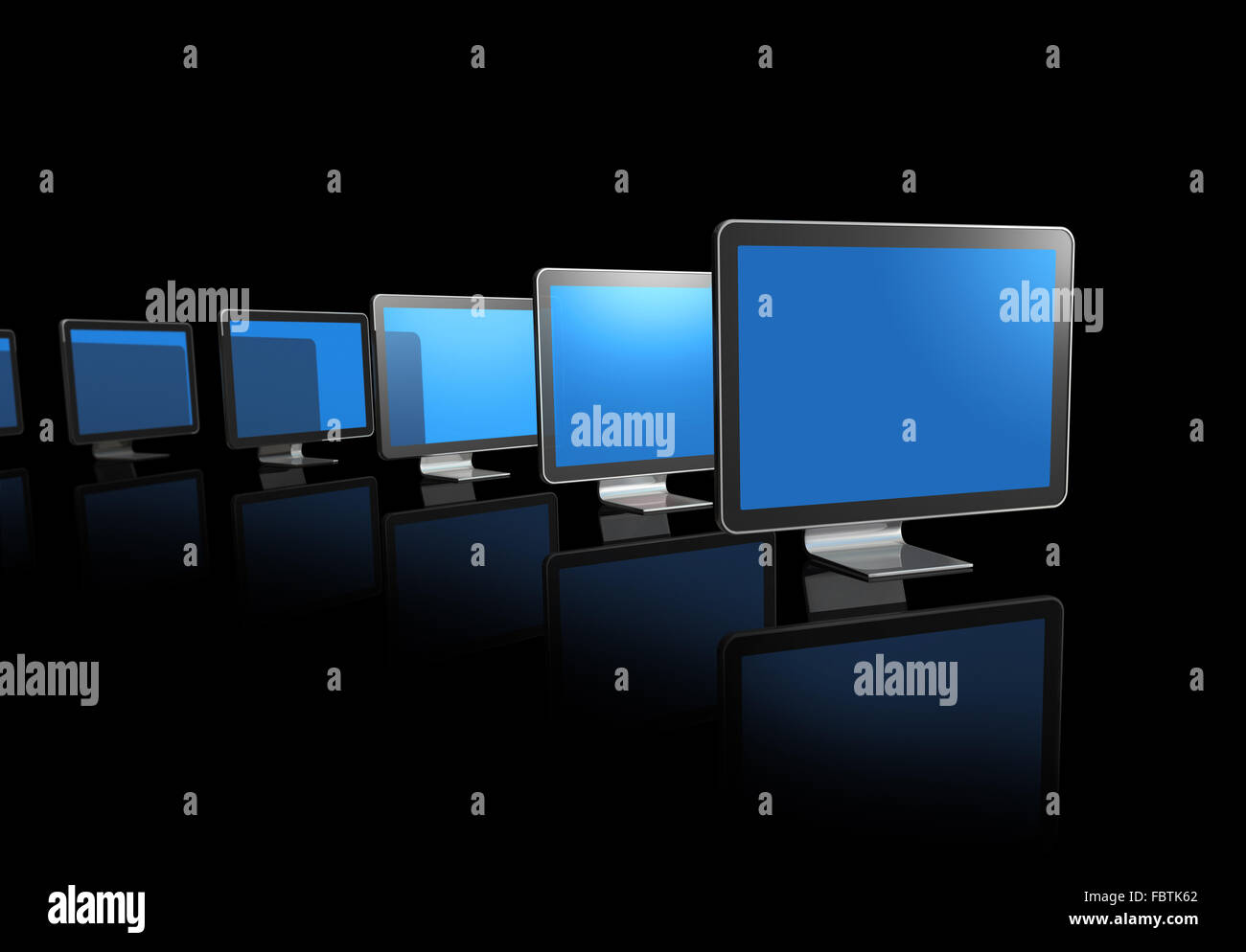 3D television screens - Stock Image