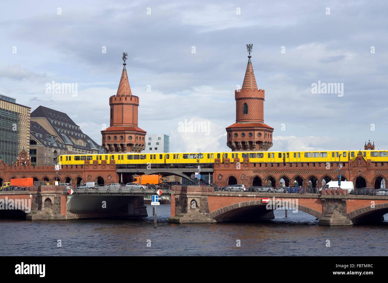 berlin oberbaumbruecke Stock Photo