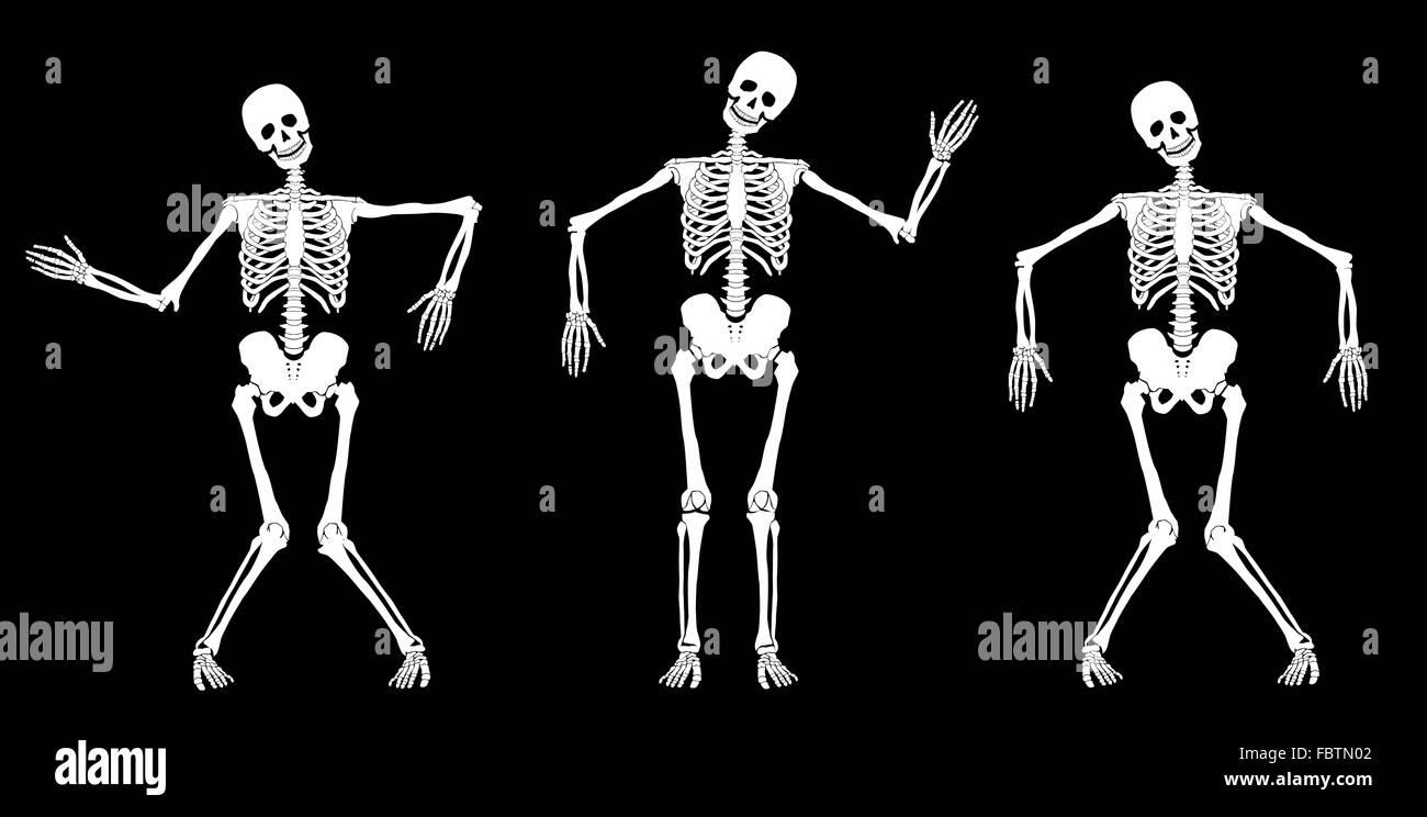 Dancing skeletons - Stock Image