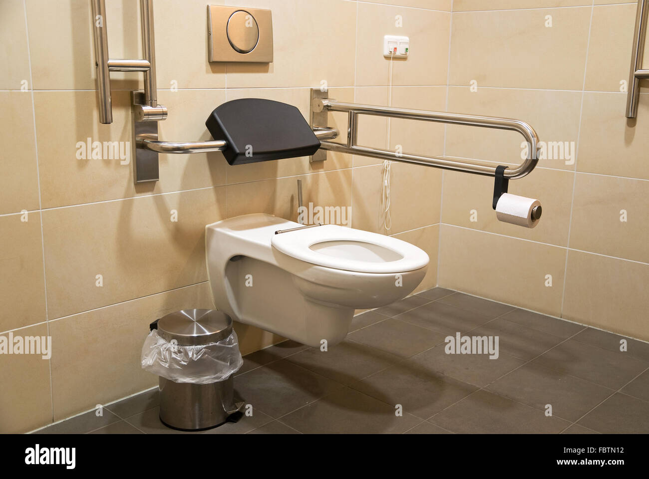 toilet for disabled people - Stock Image