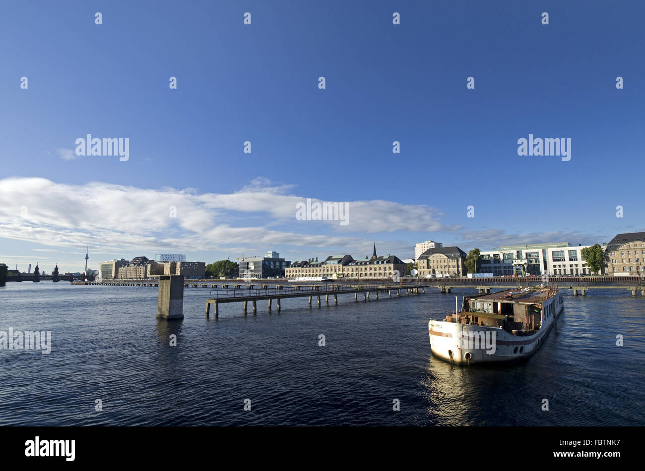 Berlin Rummelsburger Bucht - Stock Image