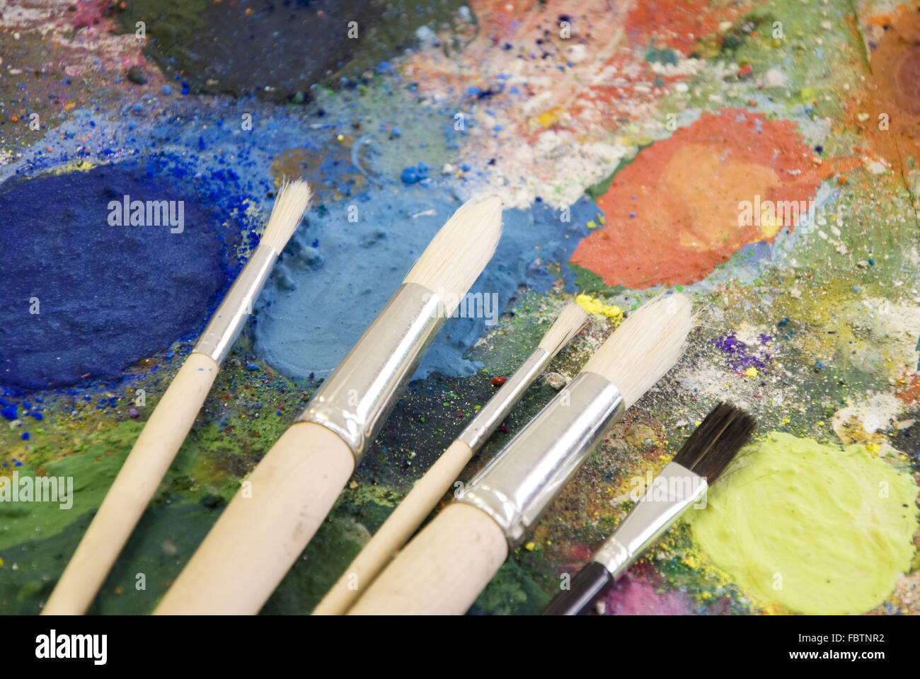 painting palette - Stock Image
