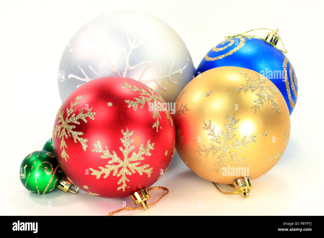 Different Color Christmas Decorative Balls Stock Photos Different