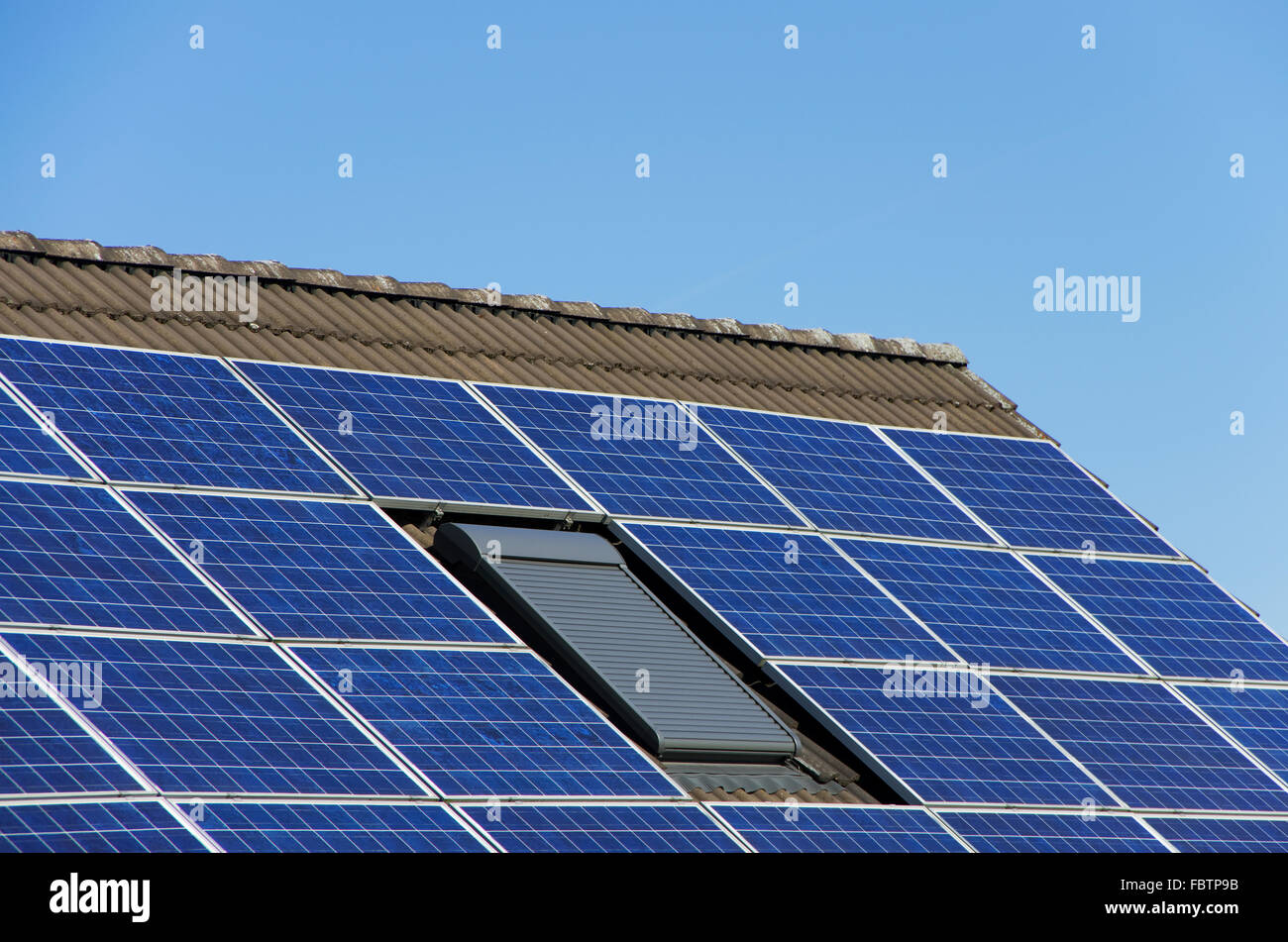 solar power roof - Stock Image