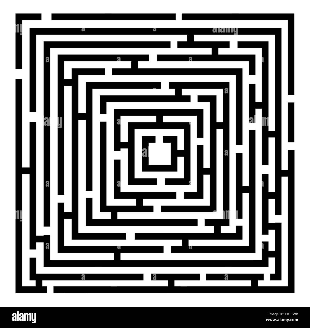 Vector 2d maze - Stock Image