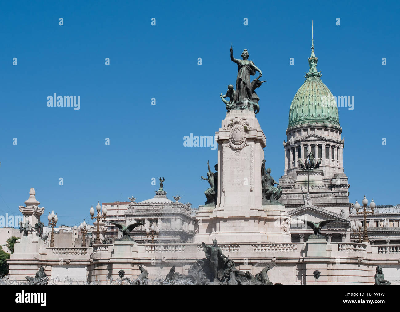 National Congress building, Buenos Aires, Argentina - Stock Image