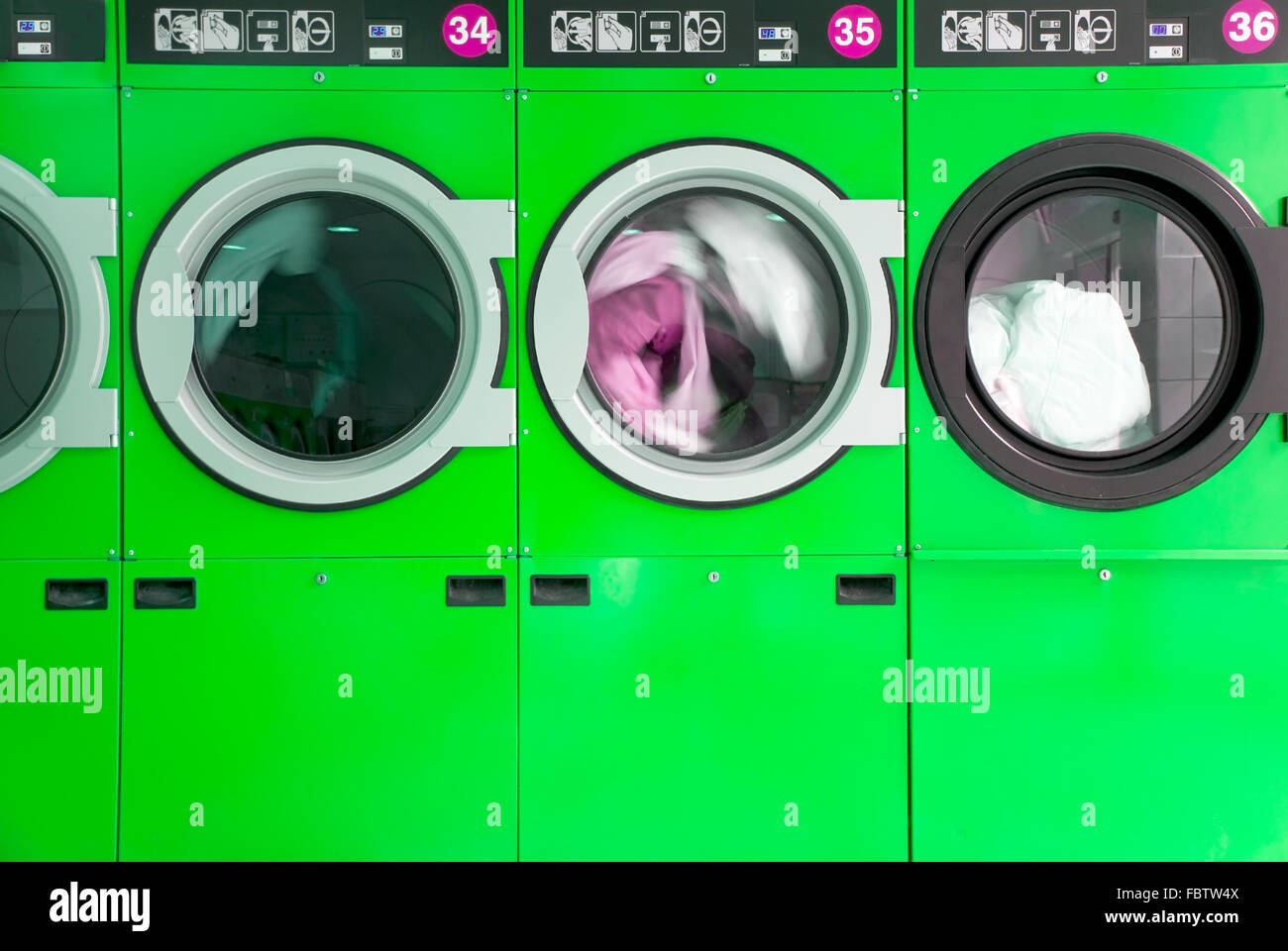 clothes washers - Stock Image