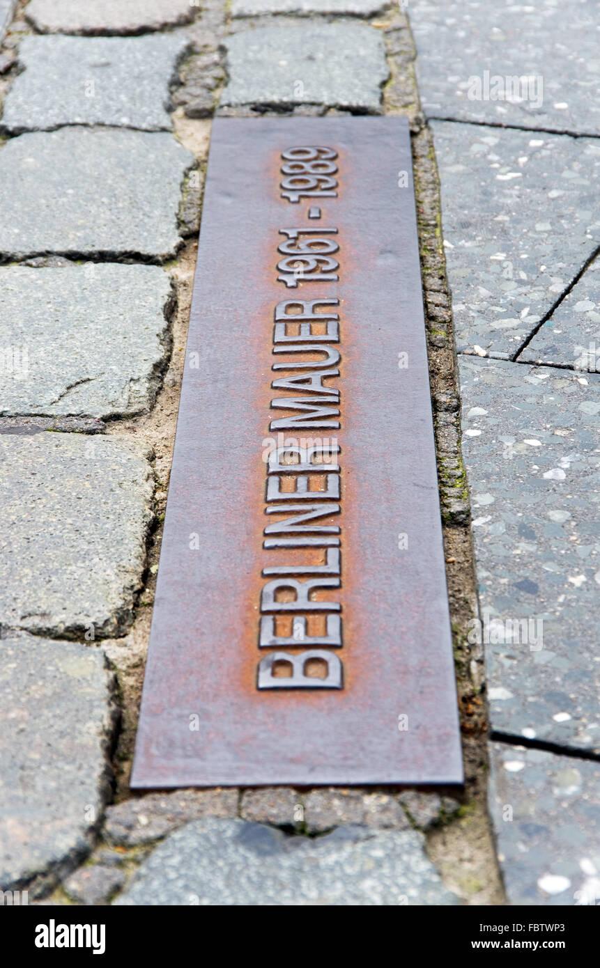berlin wall berliner mauer - Stock Image