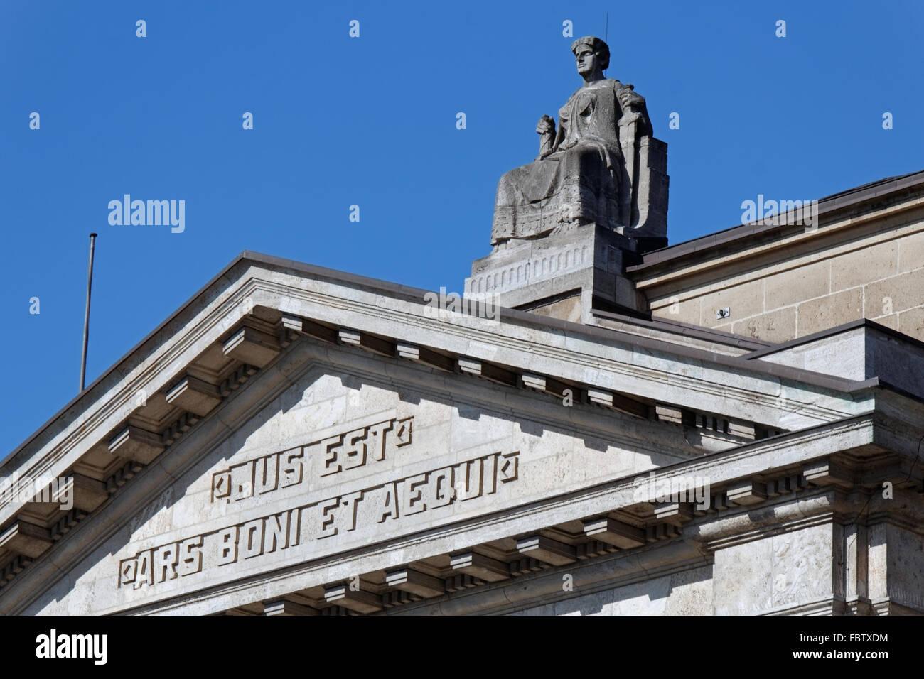Hanseatic higher regional court in Hamburg Stock Photo