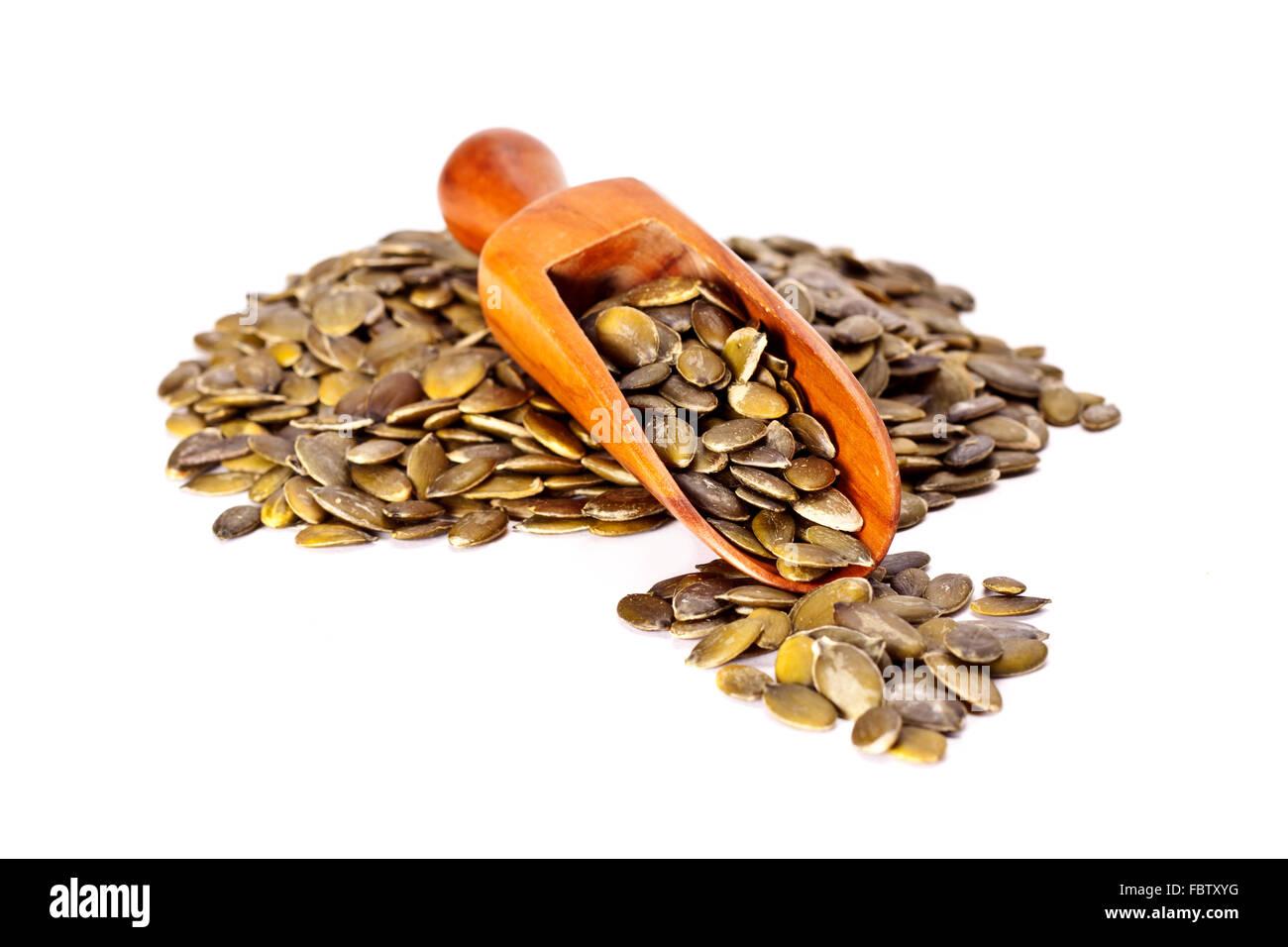 Healthy dried pumpkin seeds. Stock Photo