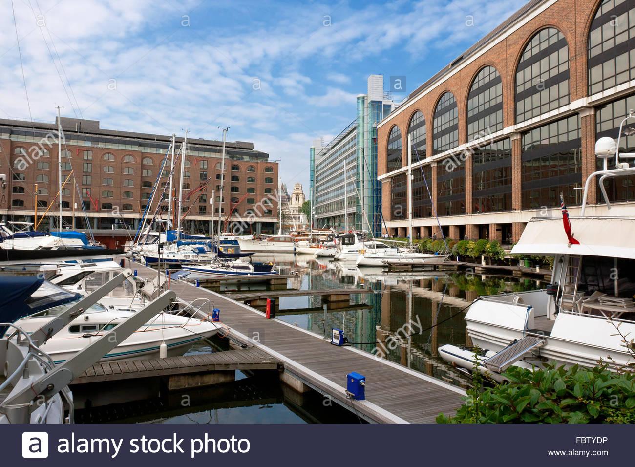 St Katharine's Dock. London, England - Stock Image