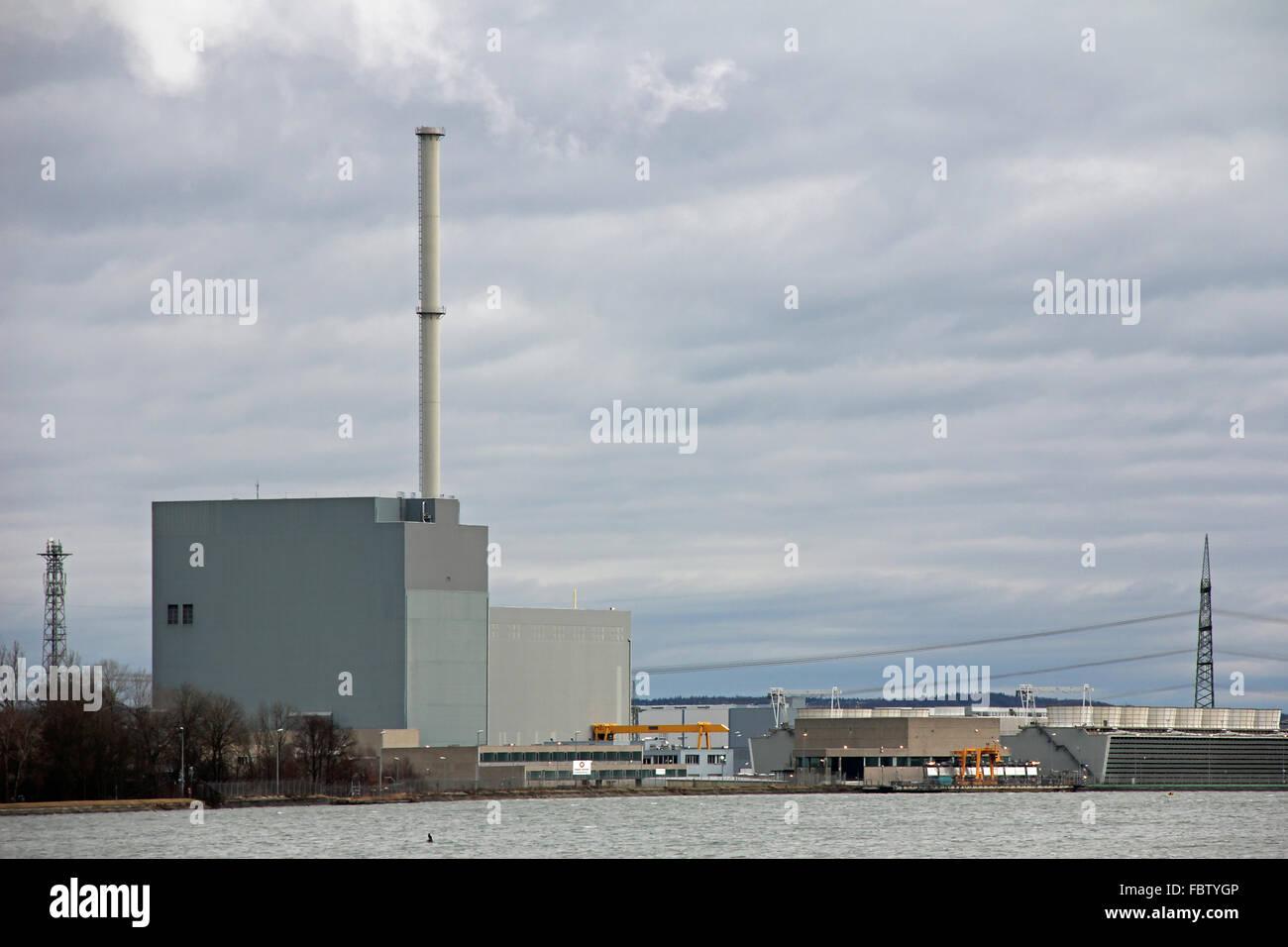 atomic power plant Ohu - Stock Image