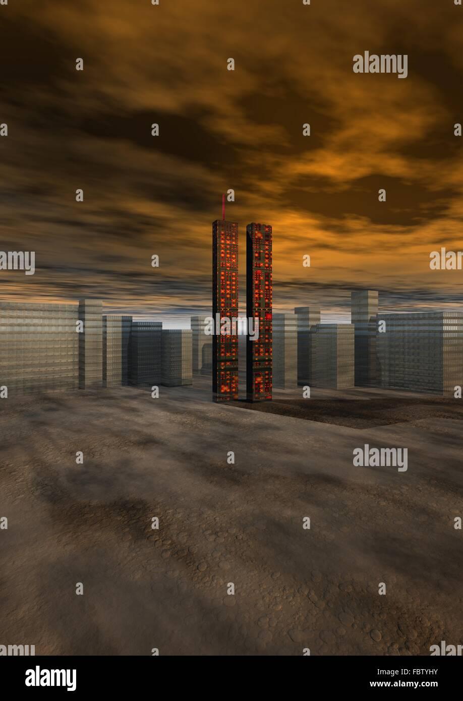 world trade center, new-york - Stock Image