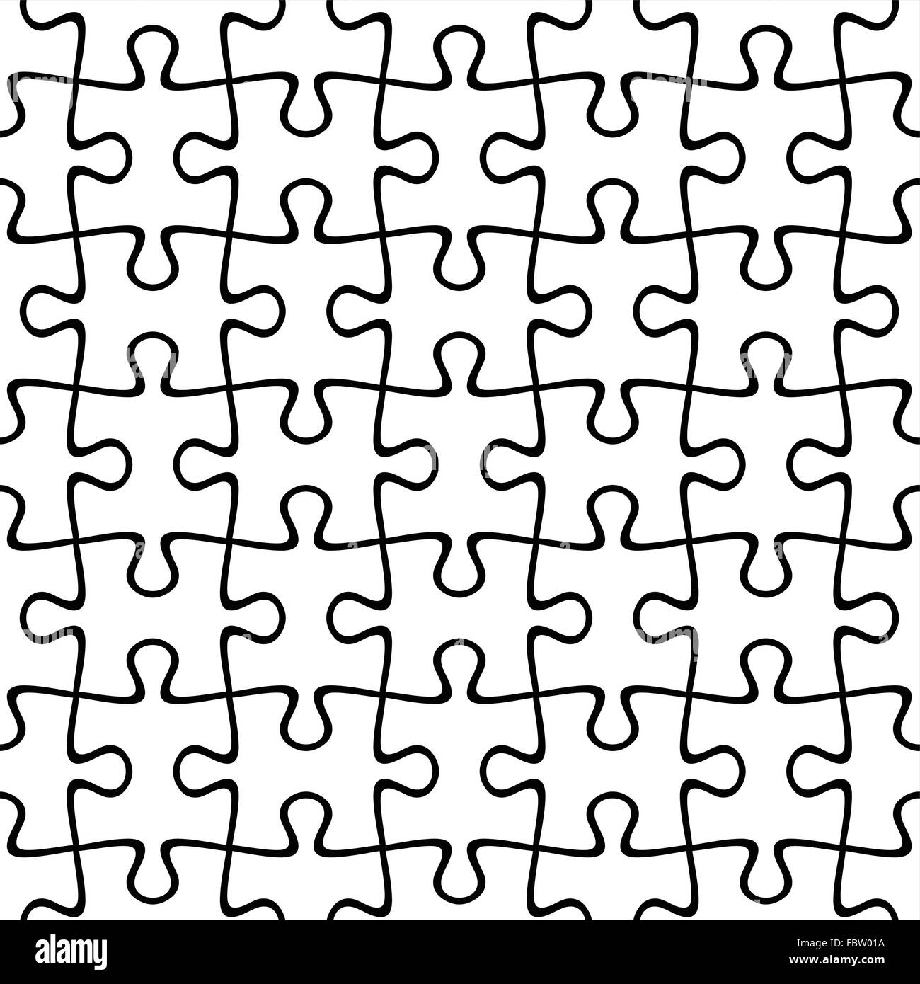 Jigsaw puzzle seamless background. Vector illustration. Stock Vector