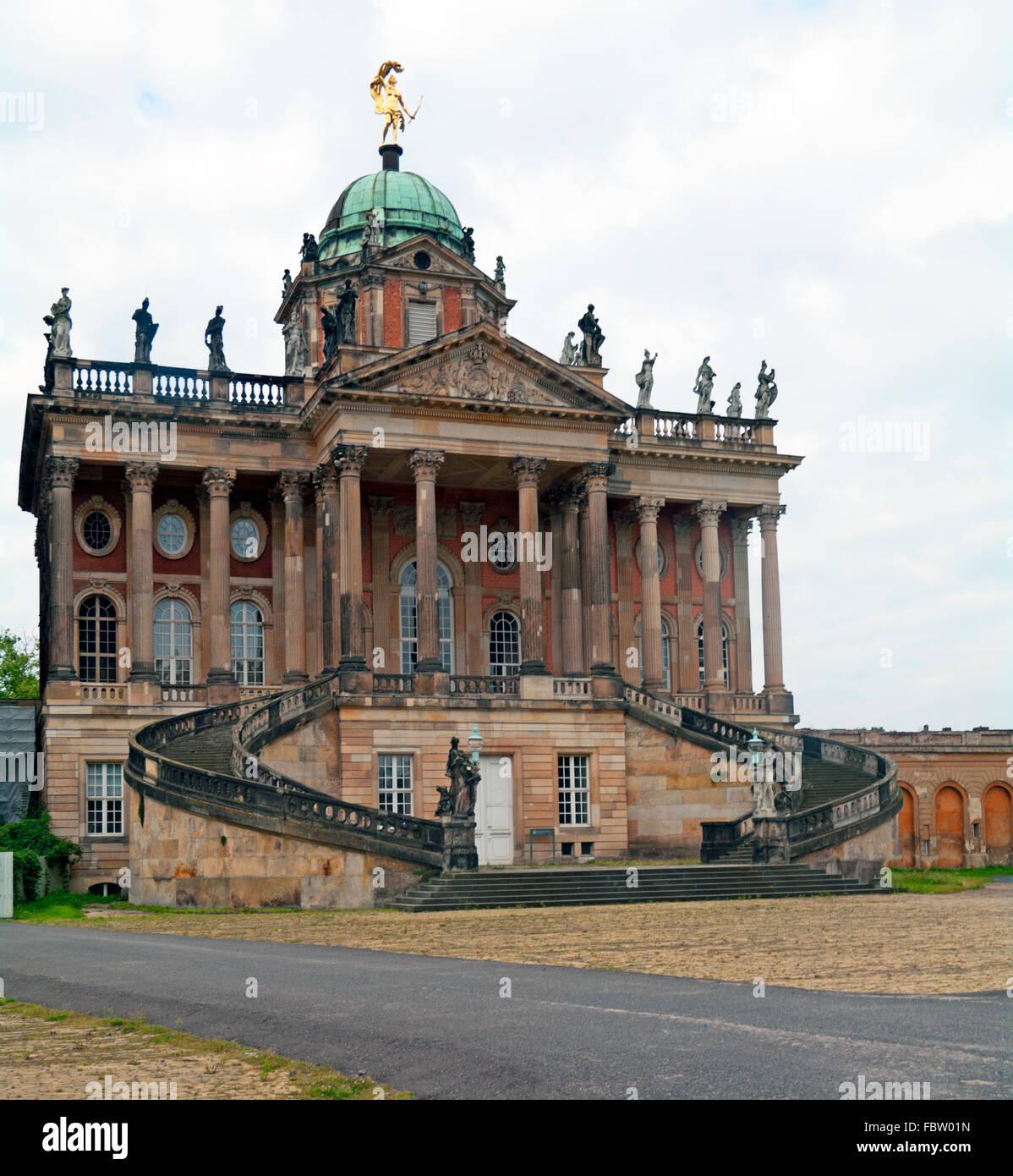 Sanssouci Park, New Palace University, Potsdam, Brandenburg, Berlin, Germany, Stock Photo