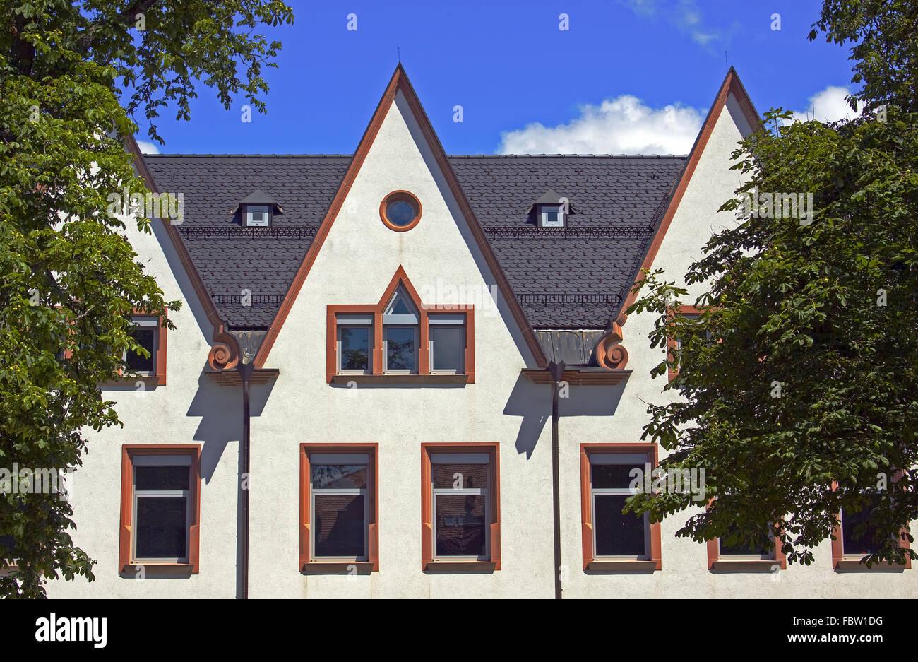 historically gable Old town Villingen - Stock Image