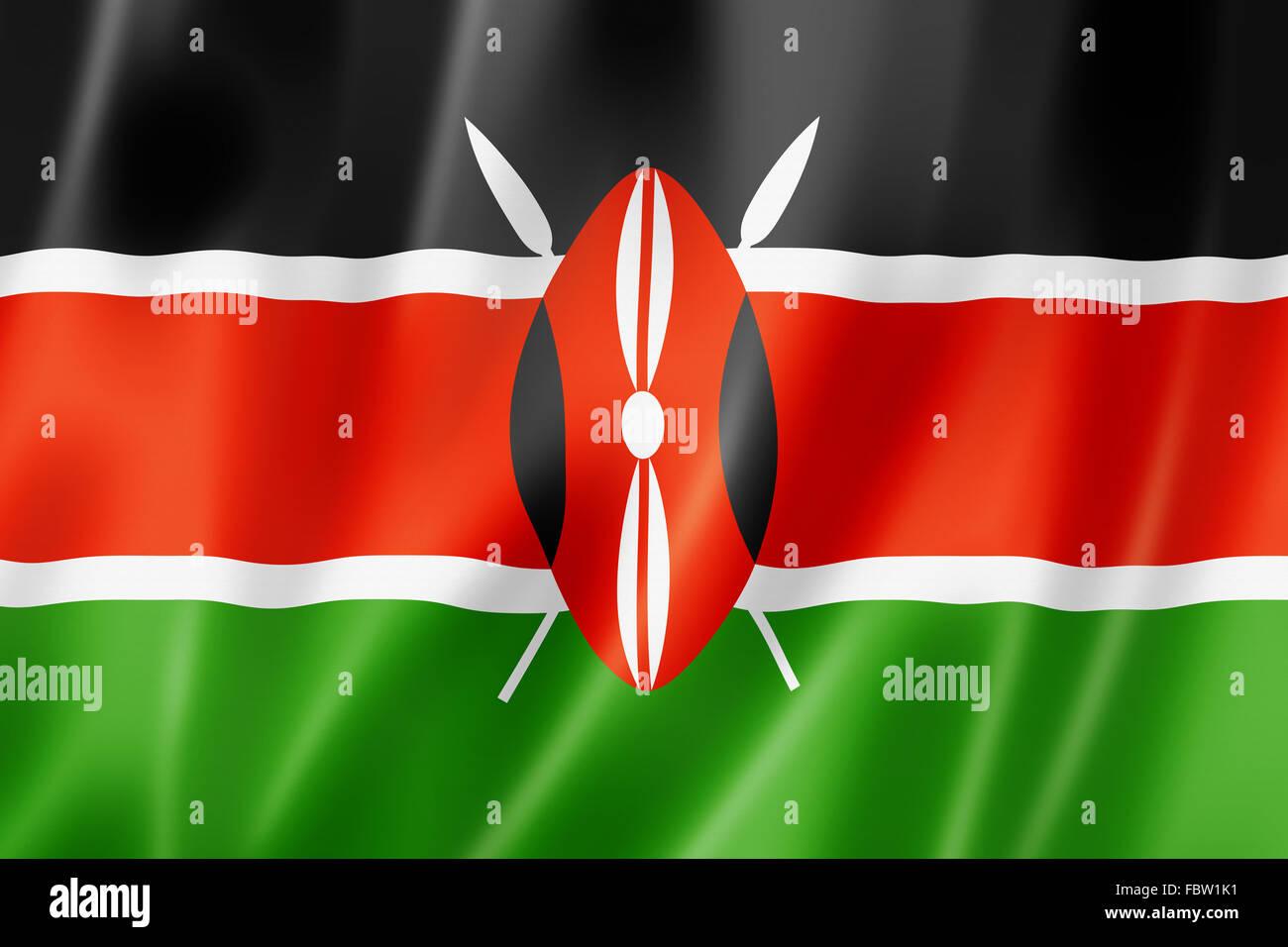 Kenyan flag Stock Photo
