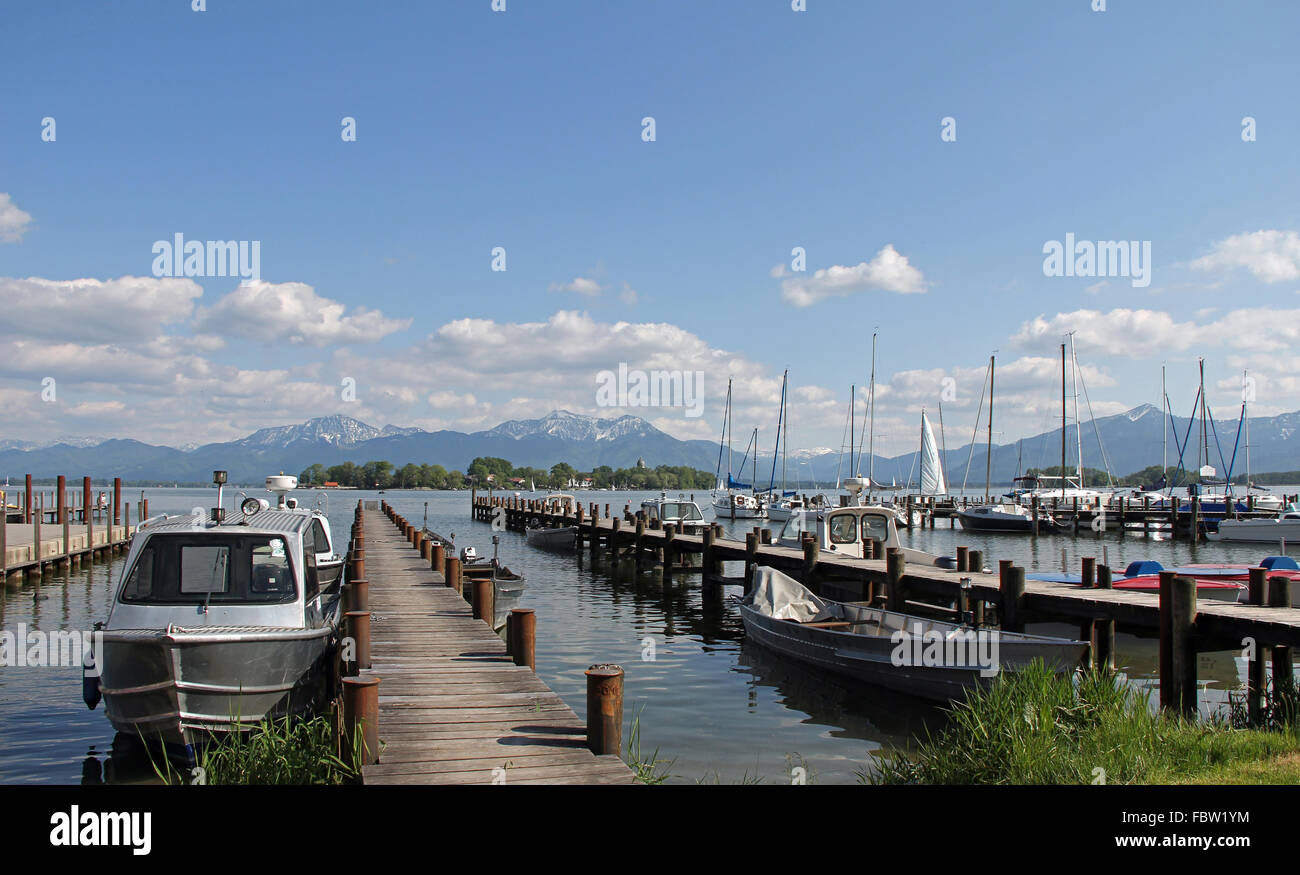The Harbour of Gstadt - Stock Image