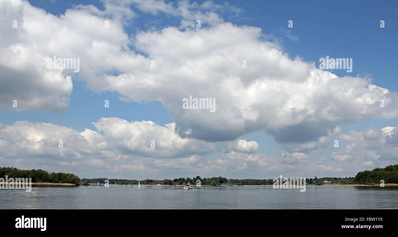 Clouds over the Chiemsee Stock Photo