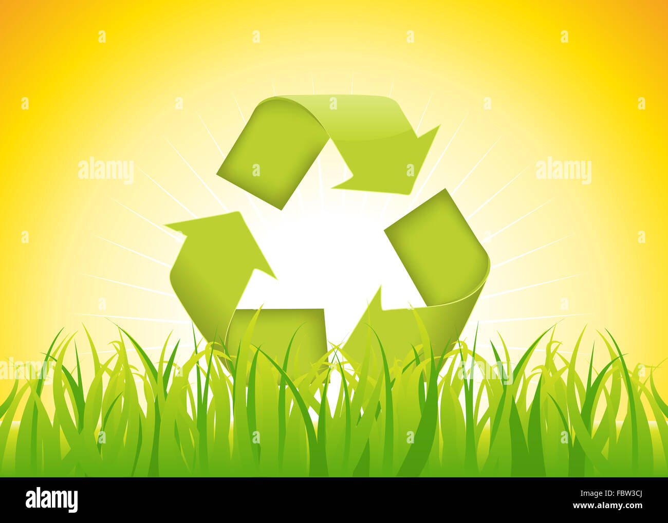 Recyclable Symbol - Stock Image