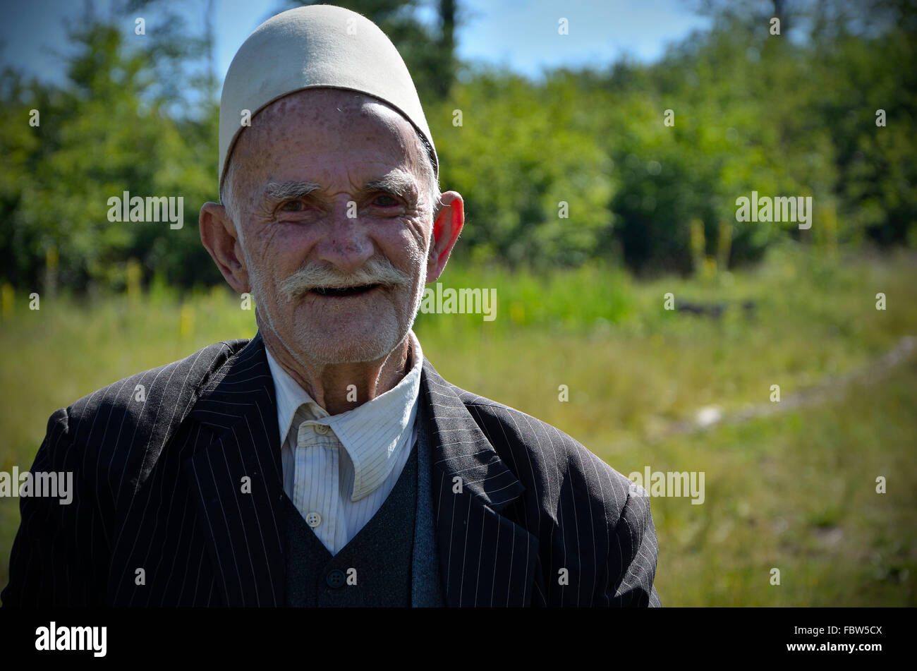 Kosovar Albanian. Balkans. War. Ethnic cleansing. Stock Photo