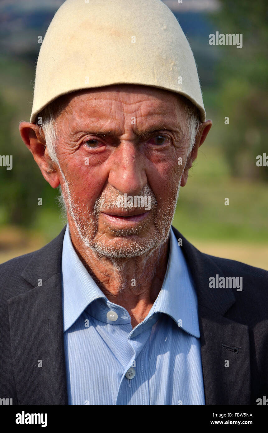 Kosovar Albanian. Balkans. War. Ethnic cleansing. - Stock Image