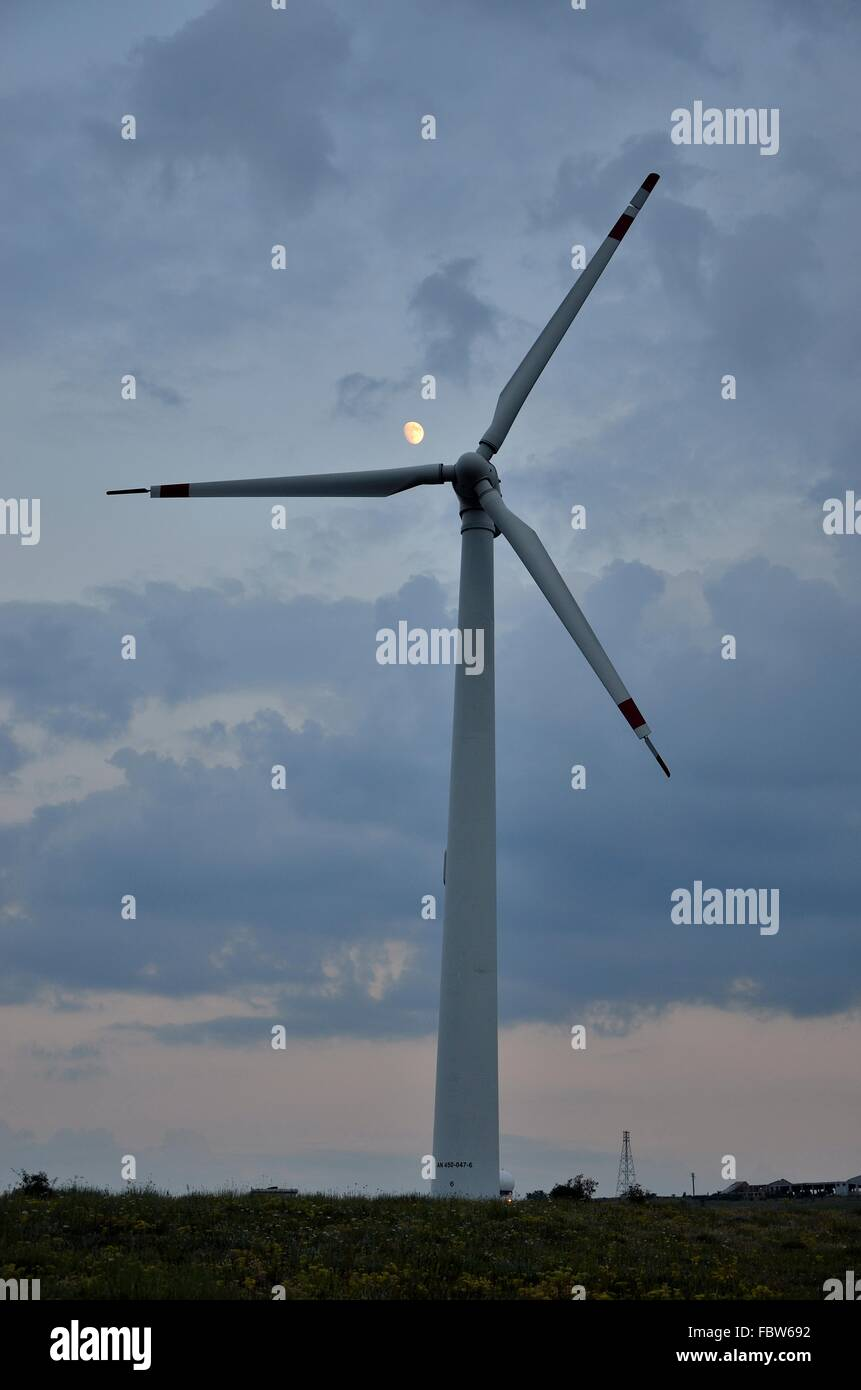 Wind Turbine. Kosovo - Stock Image
