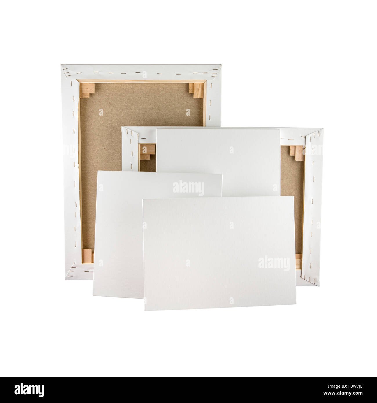 gallery wrapped blank canvas on wooden frame stretcher bar frames