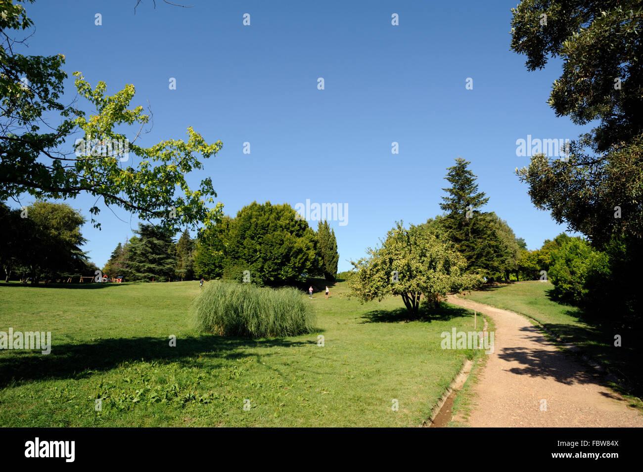 Parco di Castello, park, volterra, tuscany, italy - Stock Image