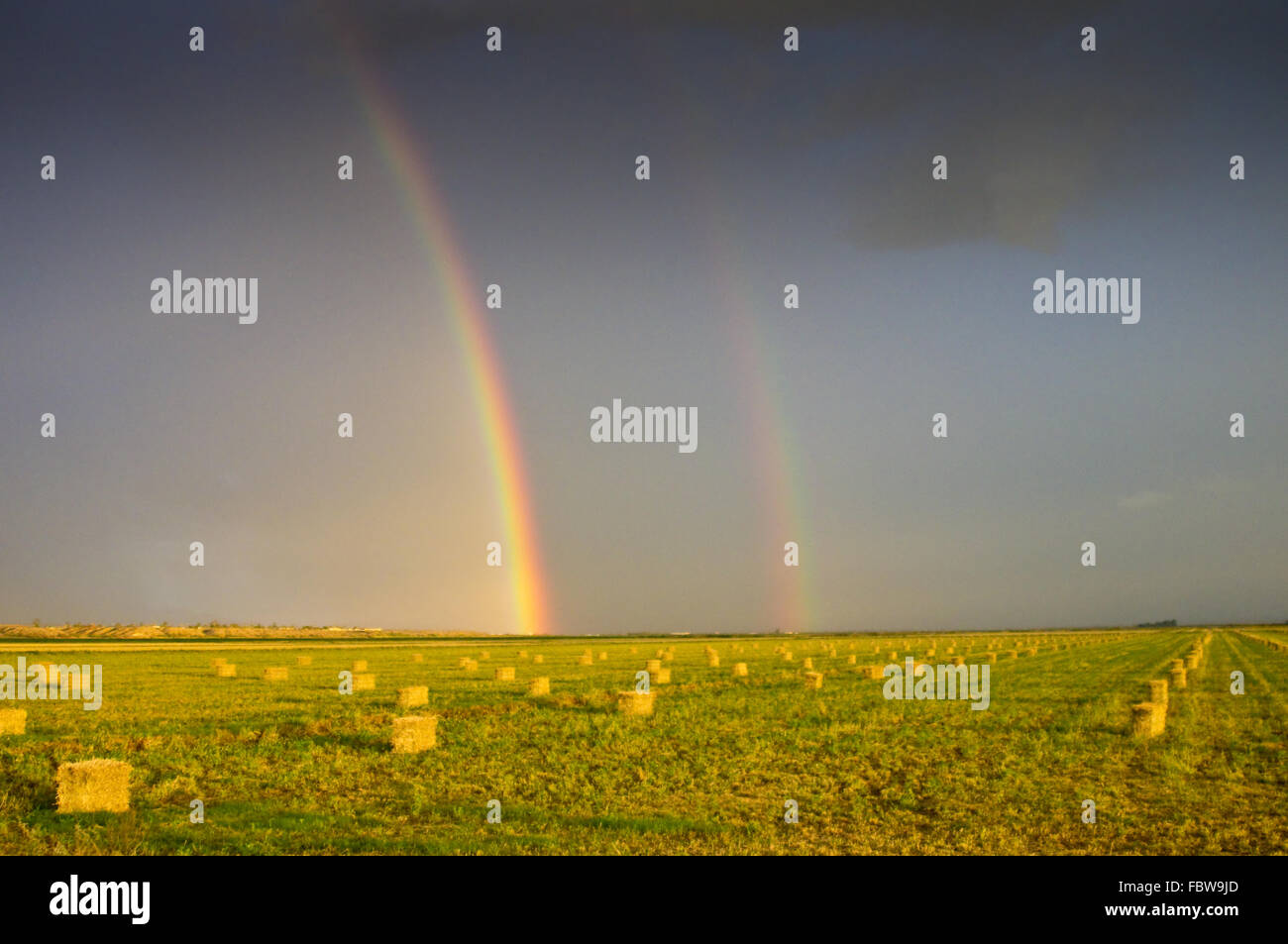 Rural Rainbows - Stock Image