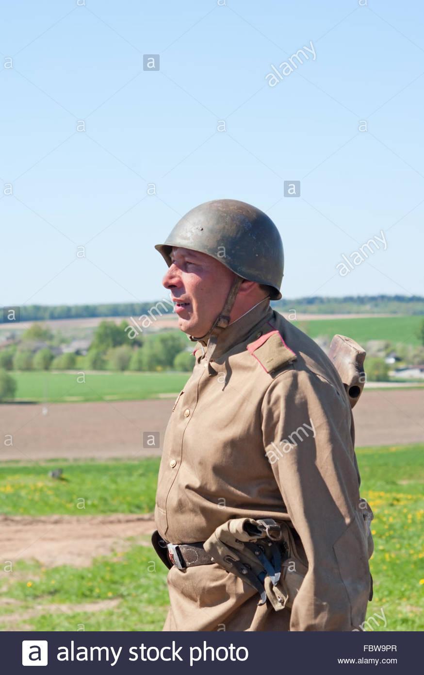 Rifleman sings Stock Photo