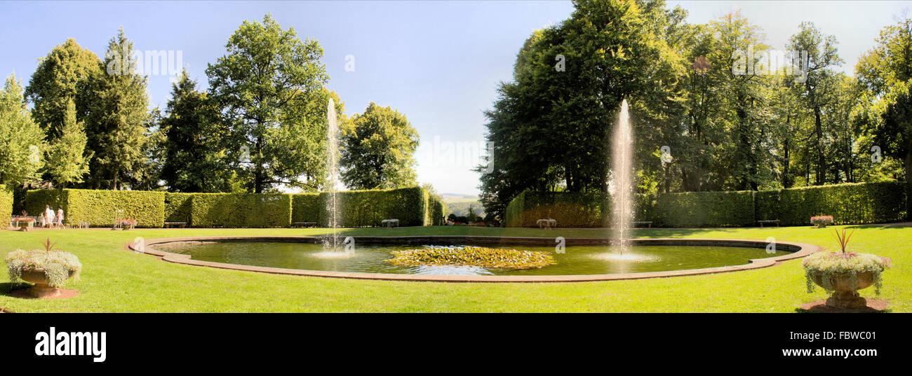 Baroque garden Lichtenwalde in Saxony - Stock Image